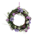 Fritillaria mixed flowers twig wreath
