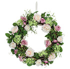 Mixed rose foliage twig wreath