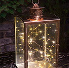 Metallic glass lantern