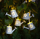 12 solar white watering can lights