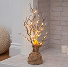 Snowy hazel LED tree 50cm