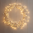 Metal framed LED wreath