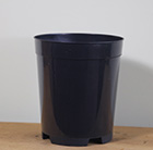 Black plastic deep plant pot