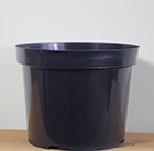 Black plastic plant pot