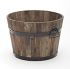 Burnt finish rustic barrel