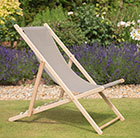 Garden deck chair - taupe