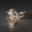 10 silver snowflake lights