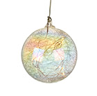 Large light up glass ornament