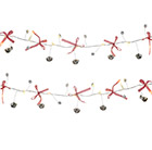 Metal bell light up garland
