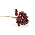 Red holly berry bunch - 8cm