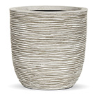 Egg ribbed planter white