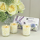 Bee calm votive candle gift set
