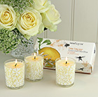 Bee happy votive candle gift set