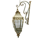 Wall lantern with bracket