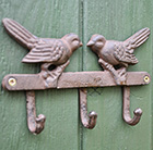 Kissing birds coat hook
