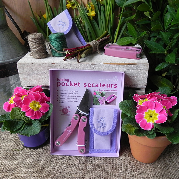 Buy ladies folding secateurs gift set delivery by crocus for Ladies gardening tools gift set