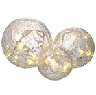 Crackle ball decoration set of 3