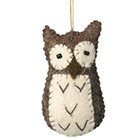 Owl felt decoration
