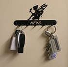 Steel feature key holder