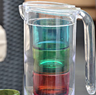 Pitcher and 4 stacking tumblers