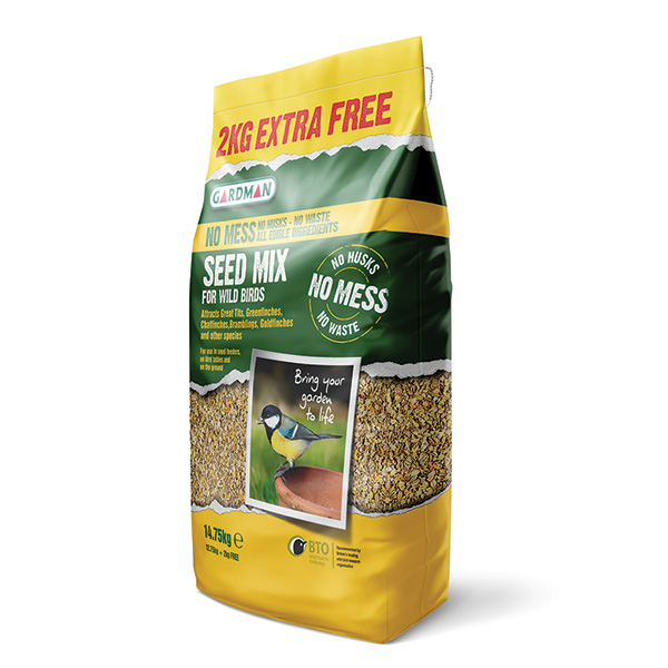 No mess bird seed mix - 12.75kg +25%