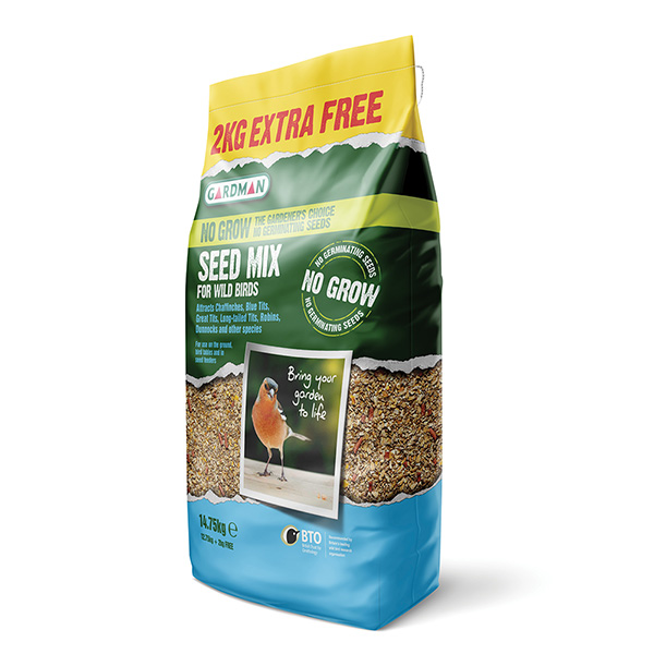 No grow bird seed mix - 12.75kg +25%