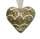 Beaded hanging decoration - heart