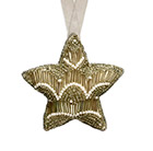Beaded hanging decoration - star