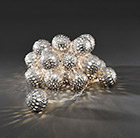 Metal ball light set - silver