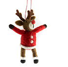 Reindeer eco wool decoration