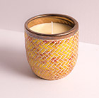 Harlequin candle pot