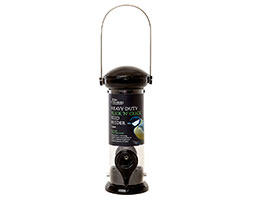Heavy duty flick n click seed feeder