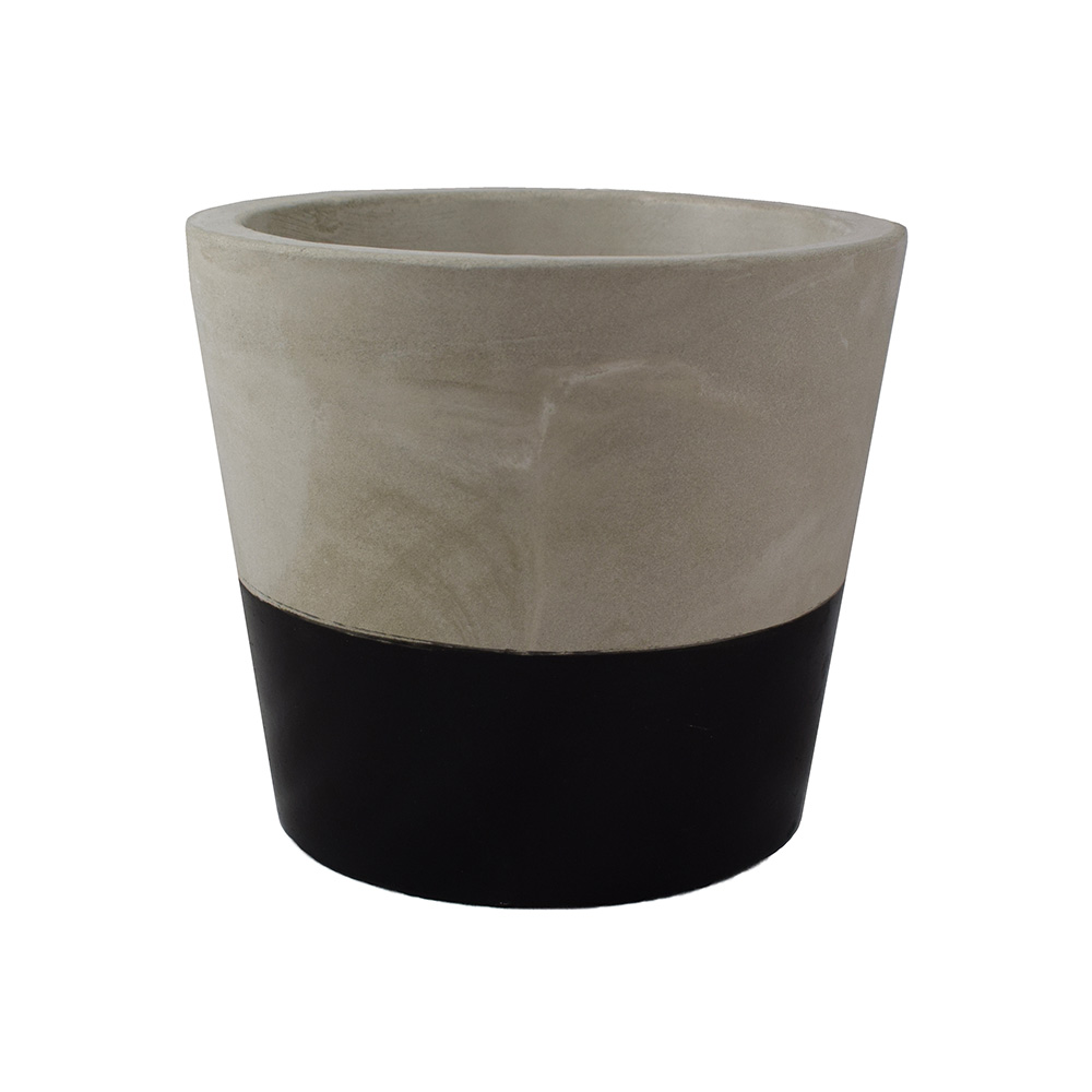 Buy Black cement pot