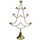 Advent candle holder - gold