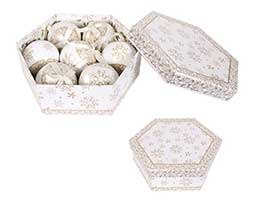 Bauble gift box - gold