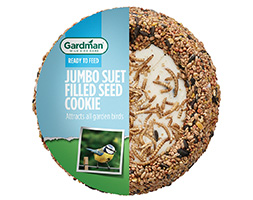 Click to view product details and reviews for Jumbo Suet Filled Seed Cookie.